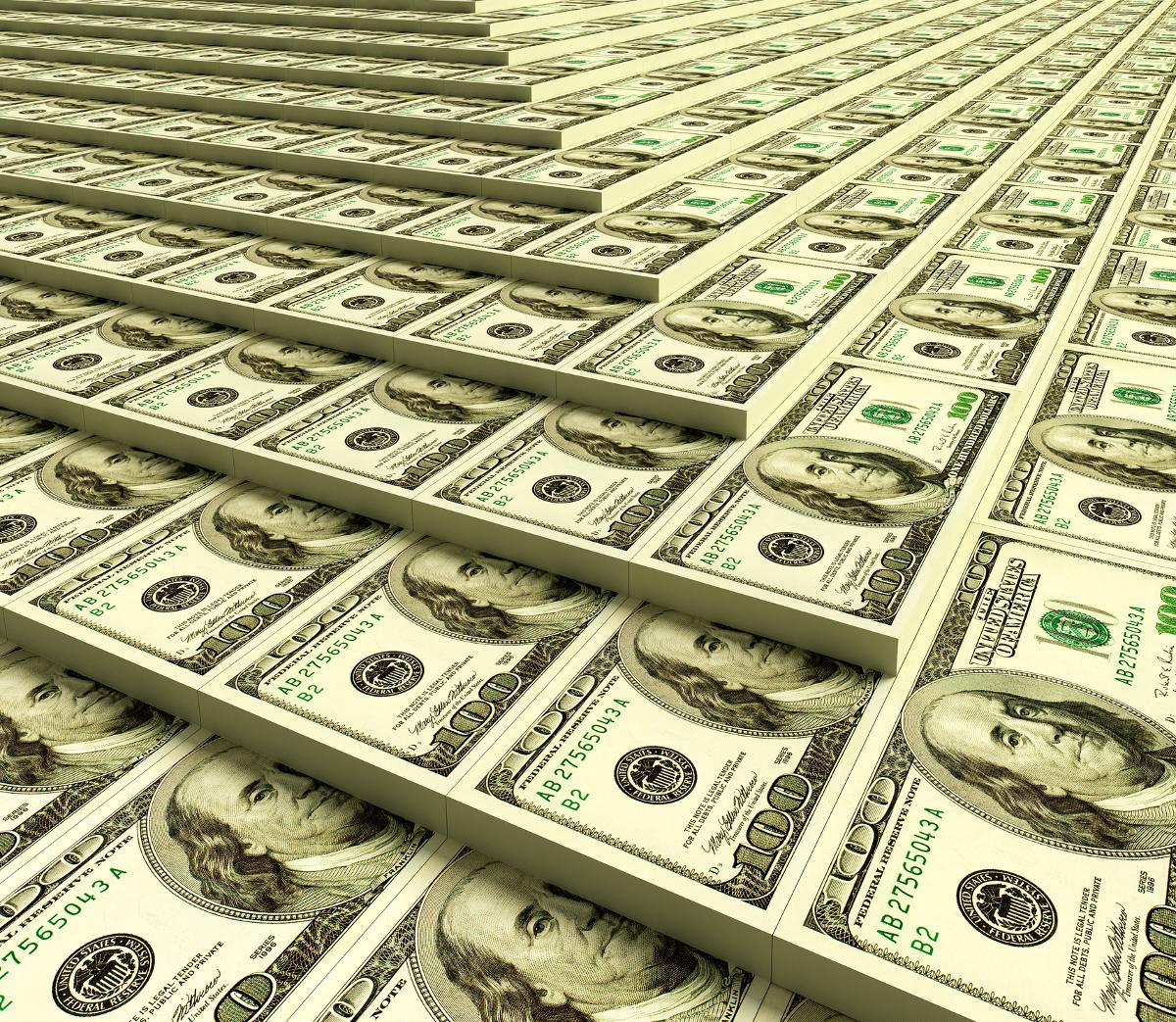Доллары картинка при складывании место